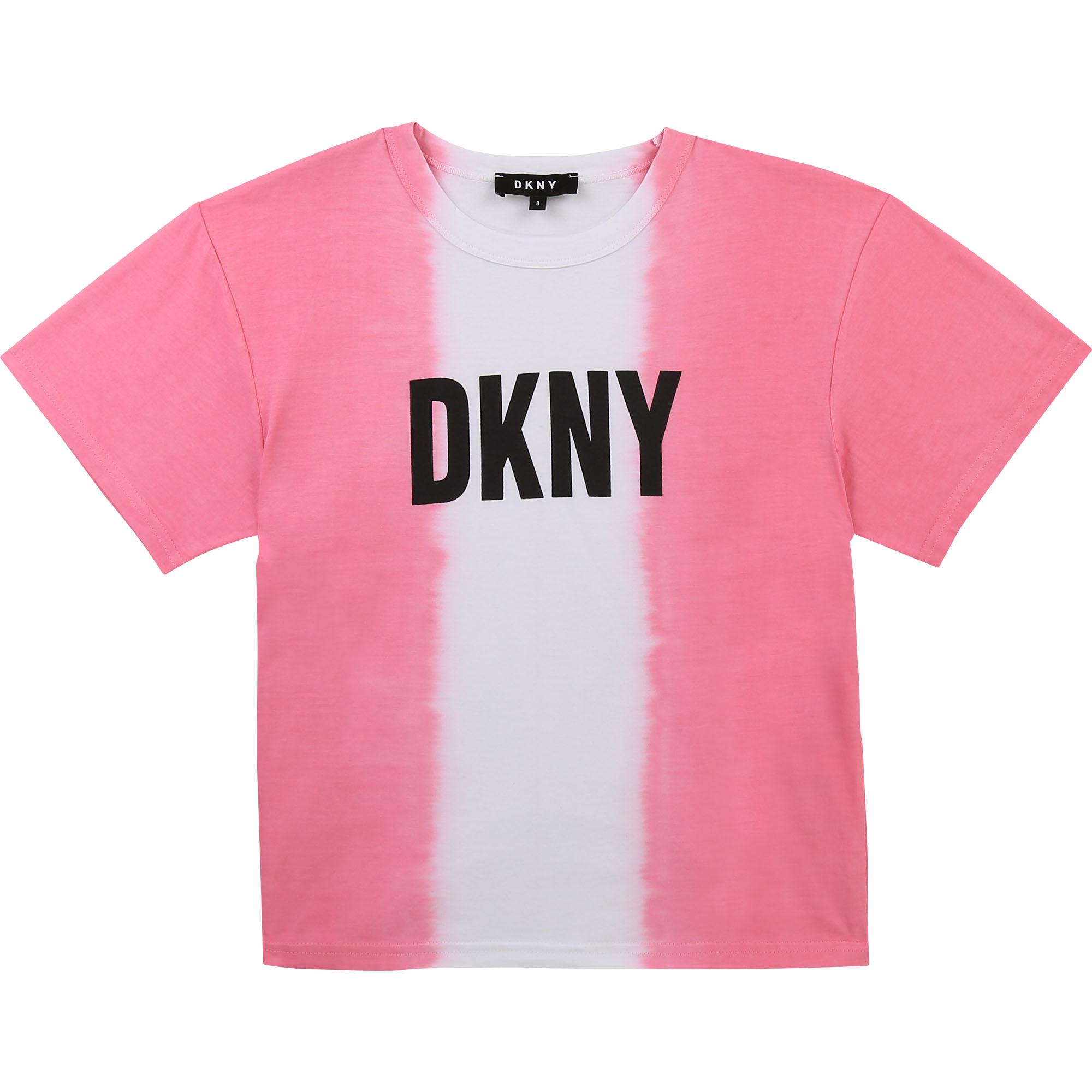 DKNY t-shirt en coton dip dye-1