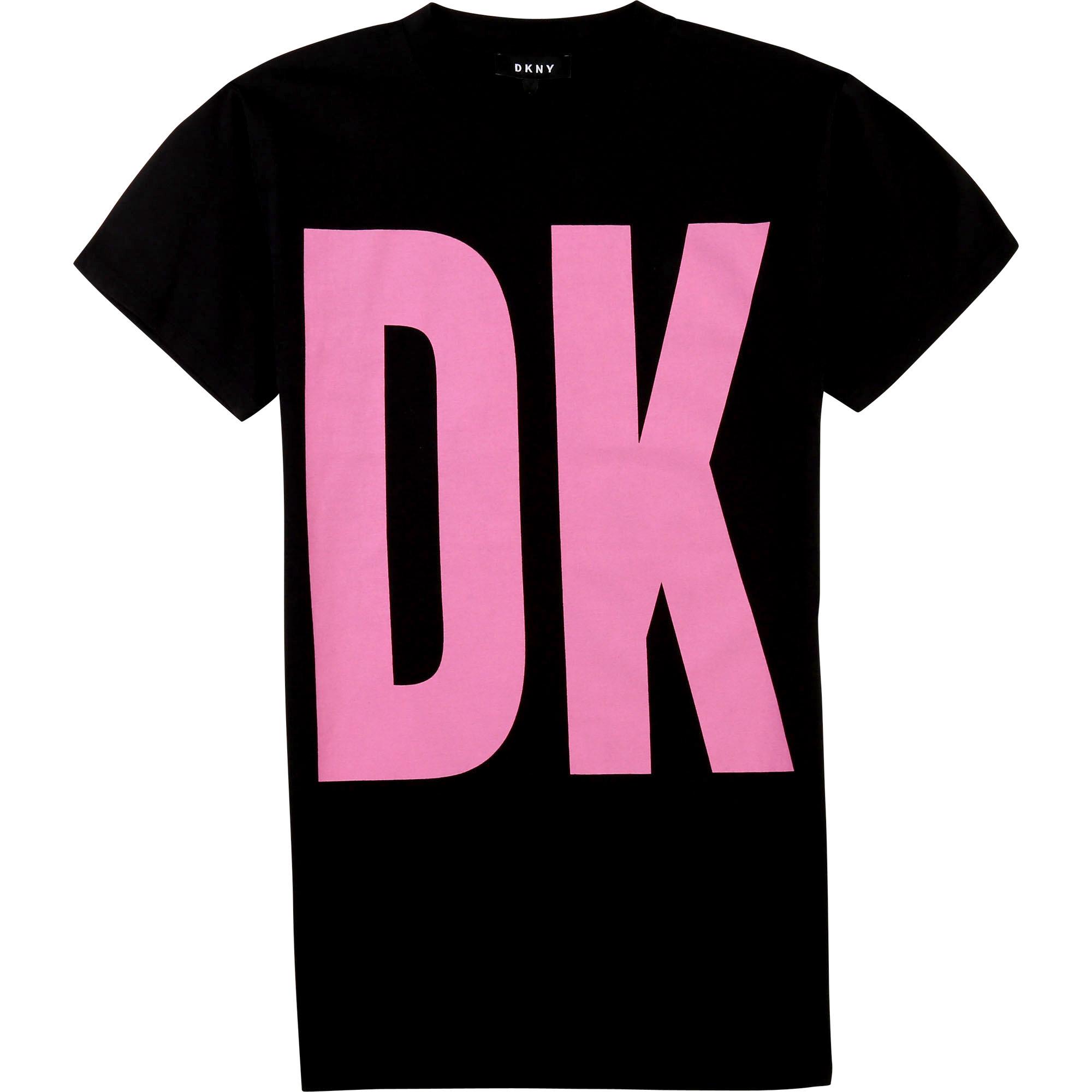 DKNY robe logo coton biologique-1