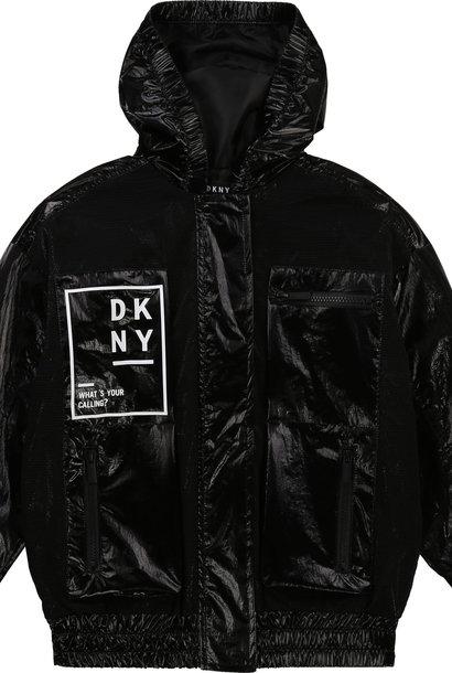 DKNY coupe vent déperlant à capuche