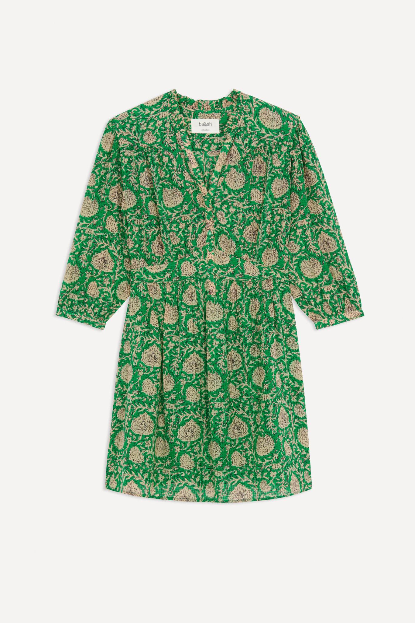 PAZ robe courte imprimée-1