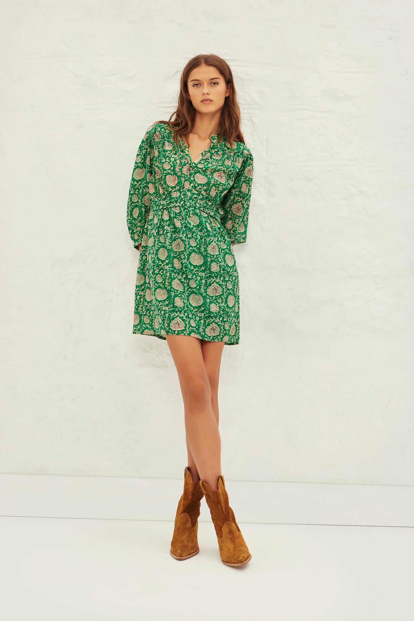PAZ robe courte imprimée-2
