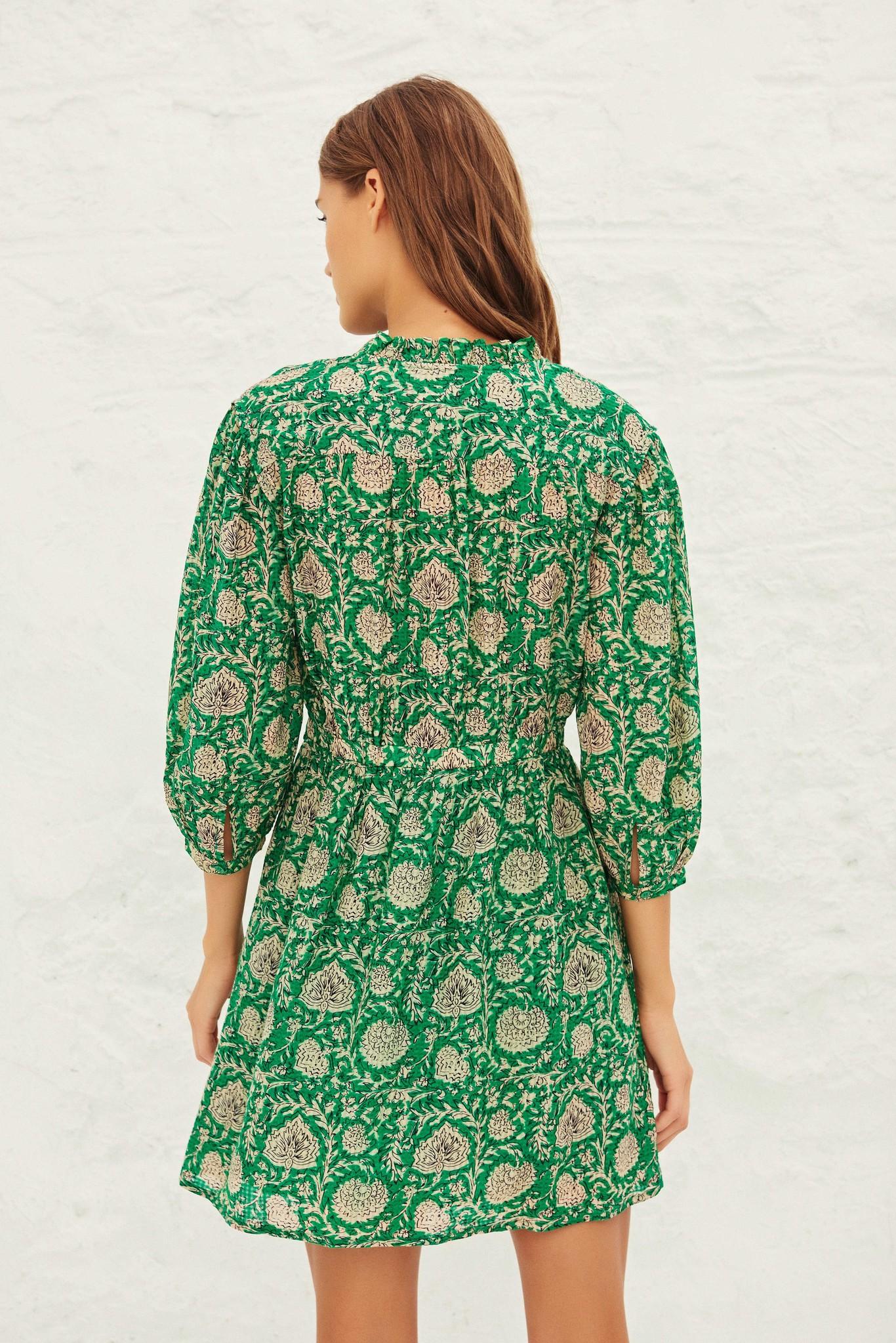 PAZ robe courte imprimée-4