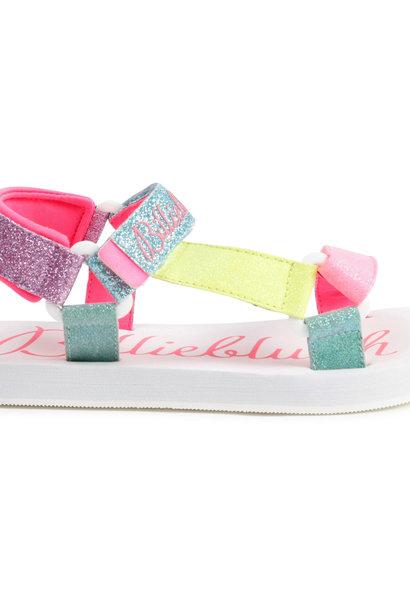Sandales à brides pailletées