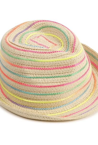 Chapeau de paille tressé