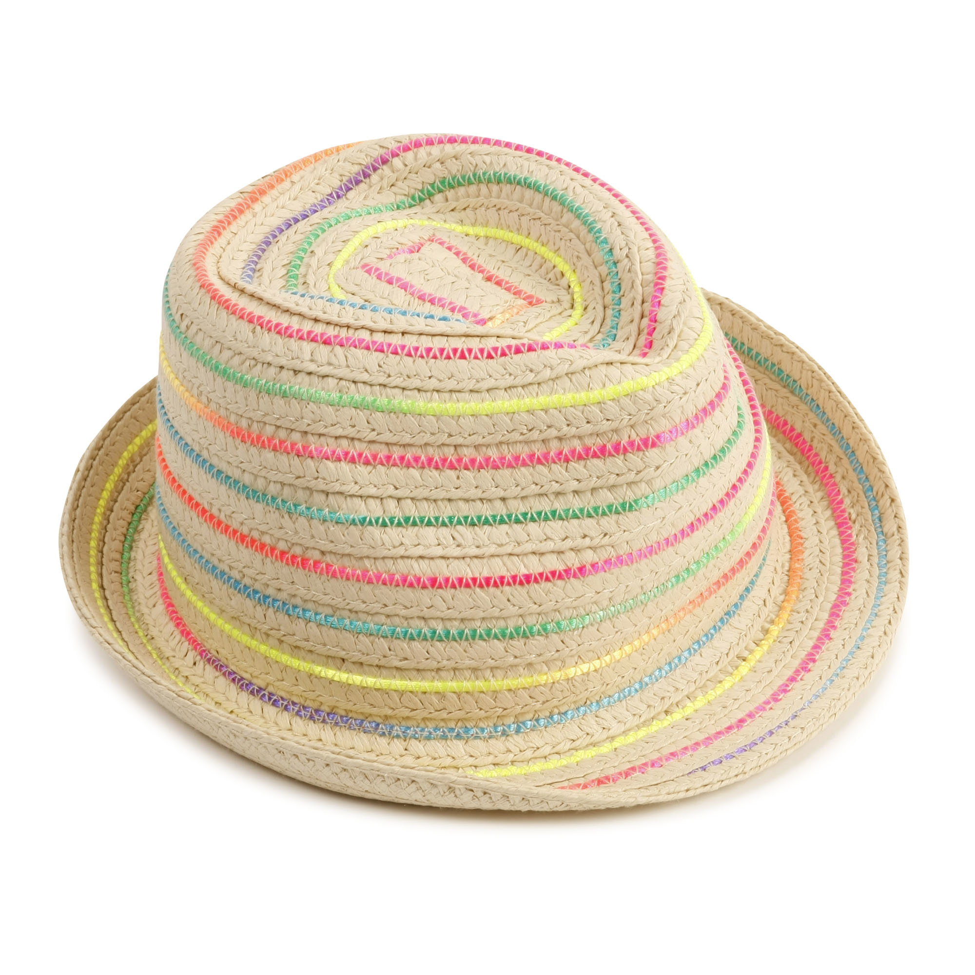 Chapeau de paille tressé-1