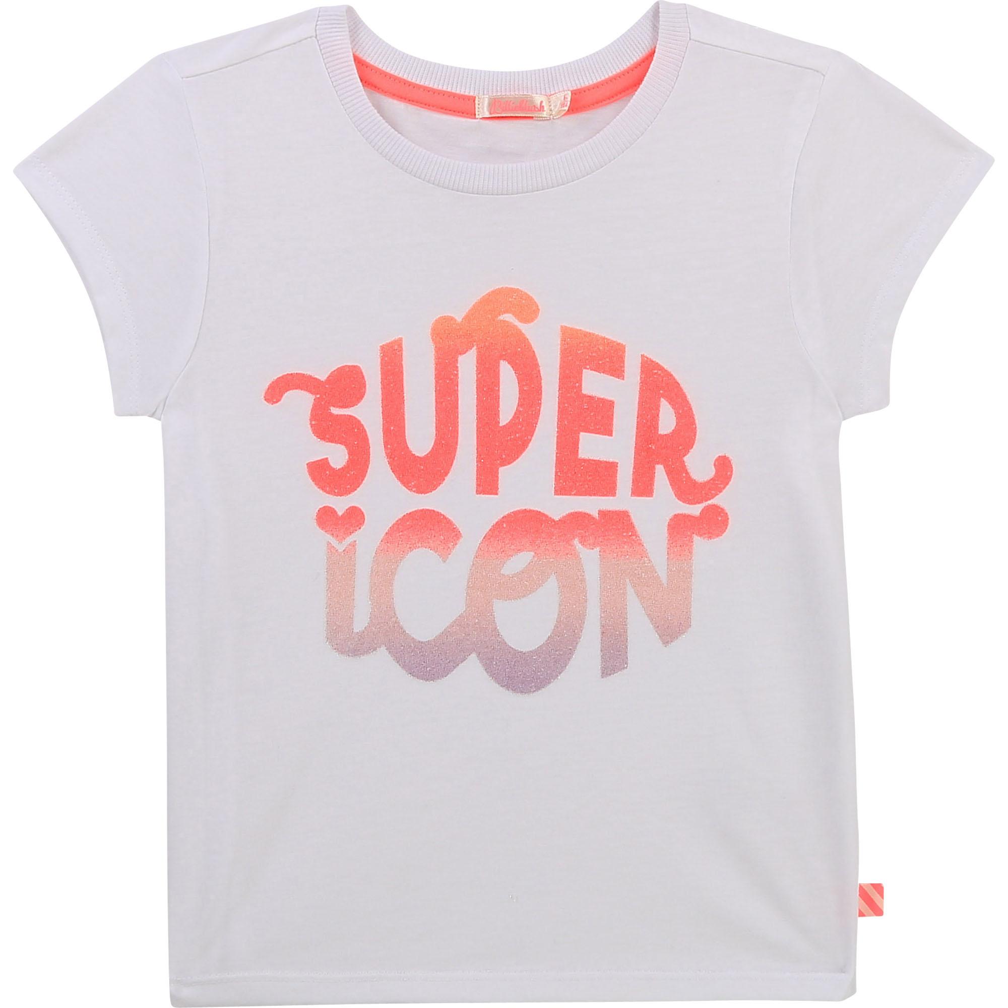 T-shirt en jersey à paillettes-1