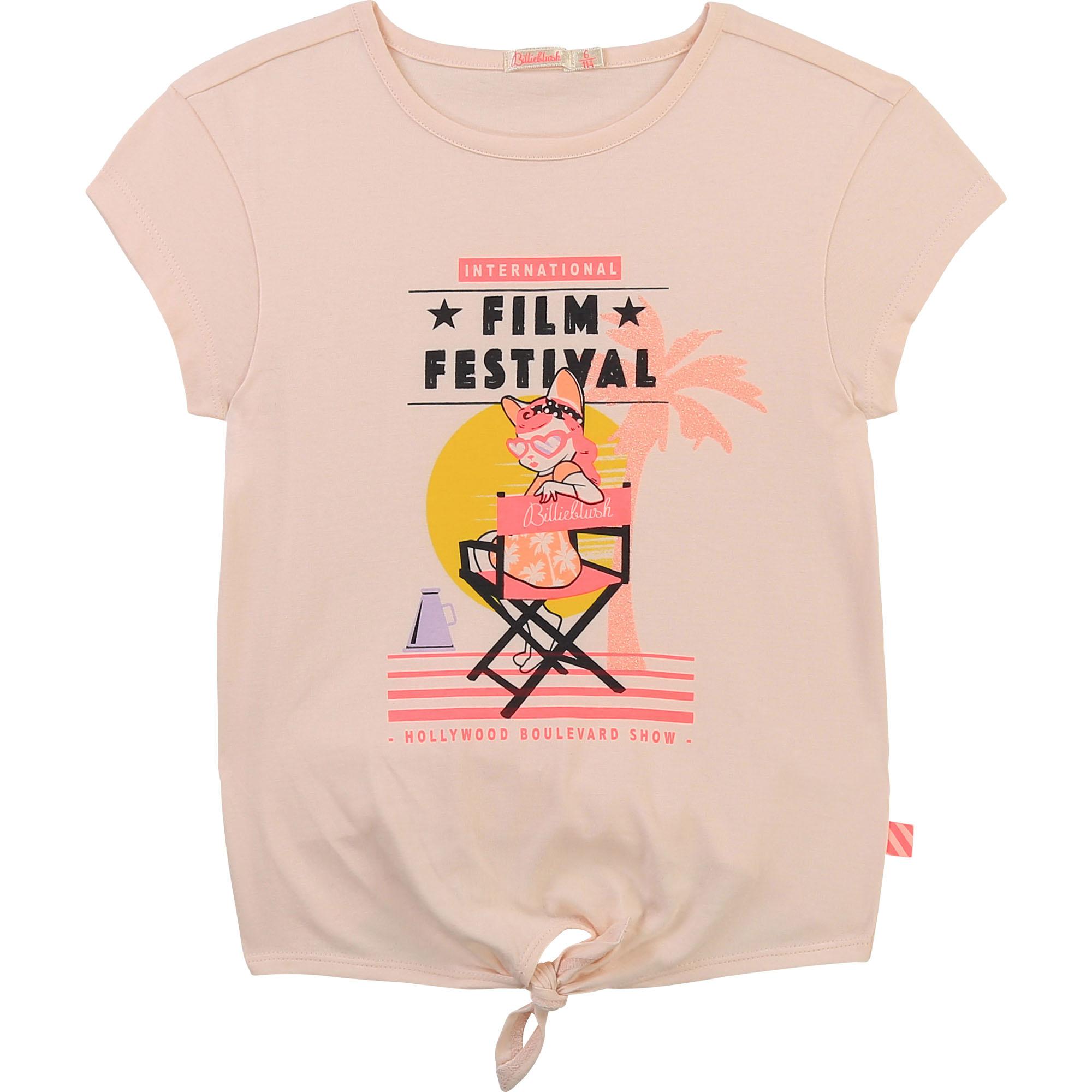 T-shirt en coton fantaisie-1