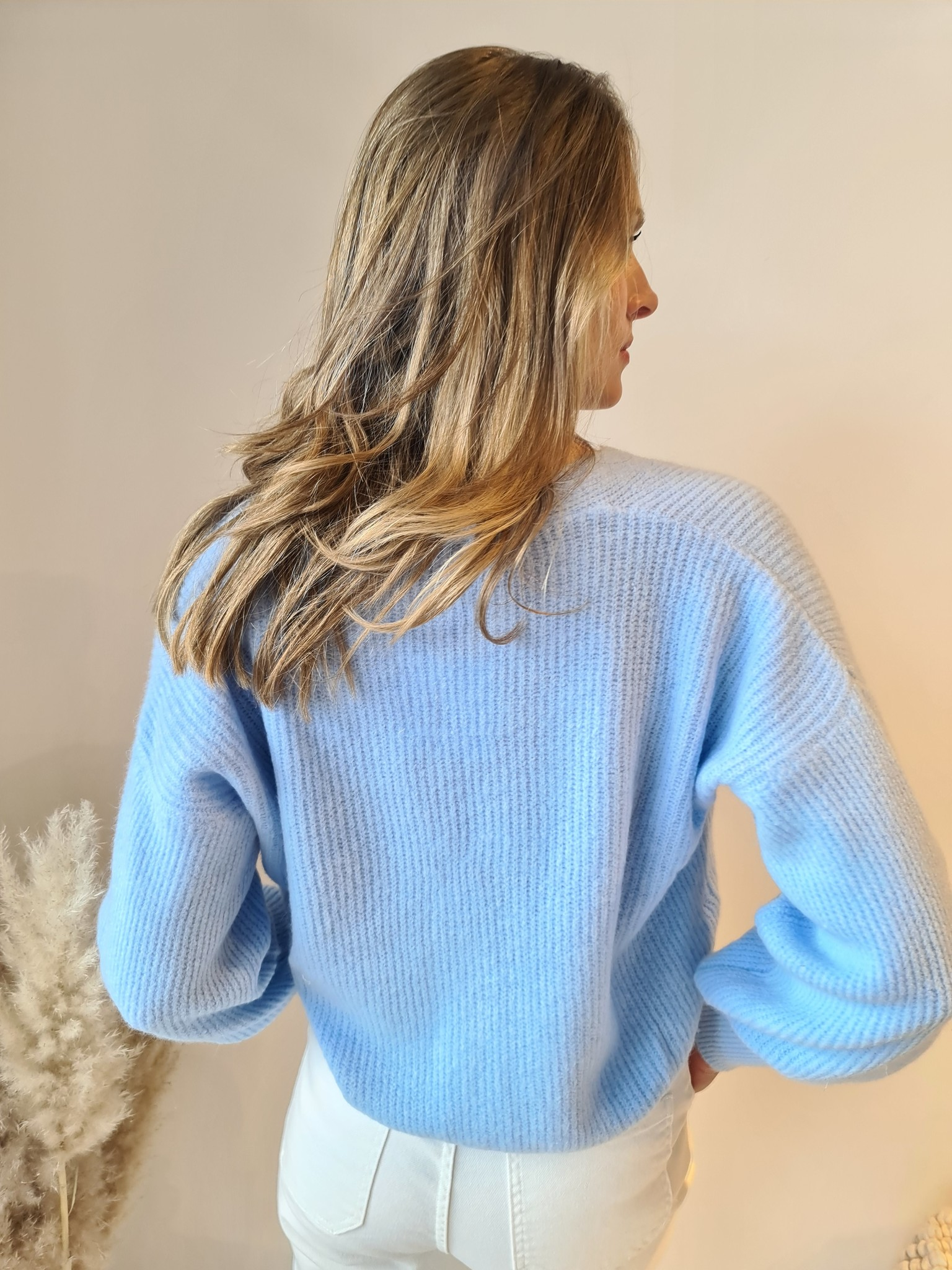 TRENDY gilet bleu ciel-3