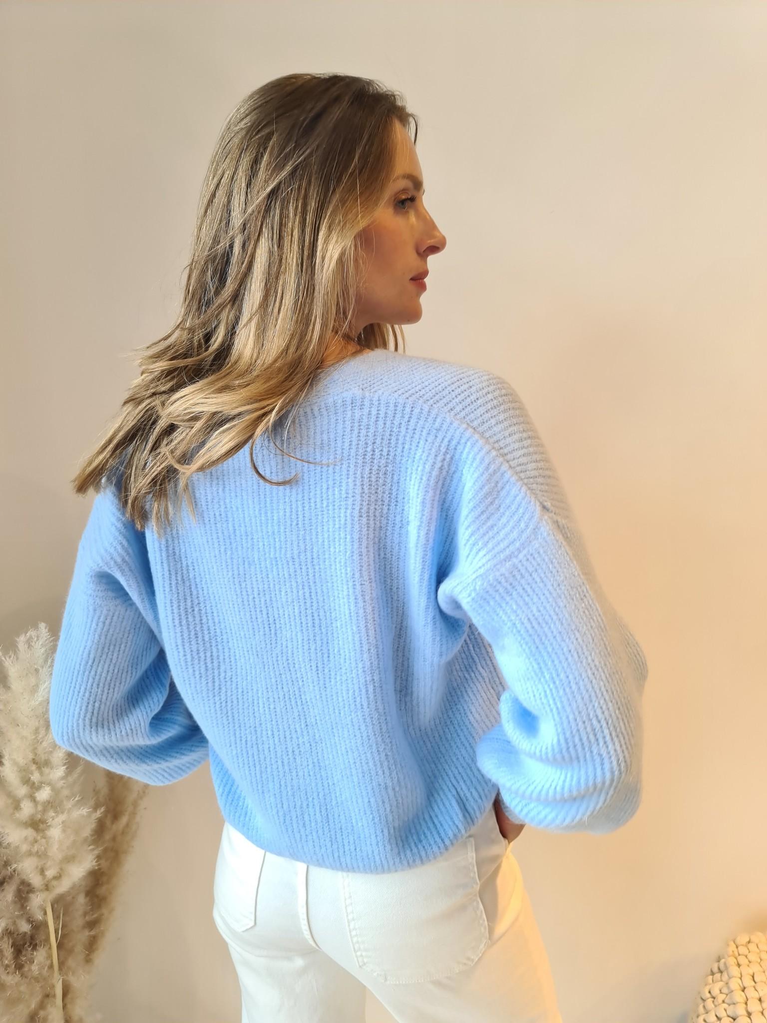 TRENDY gilet bleu ciel-4