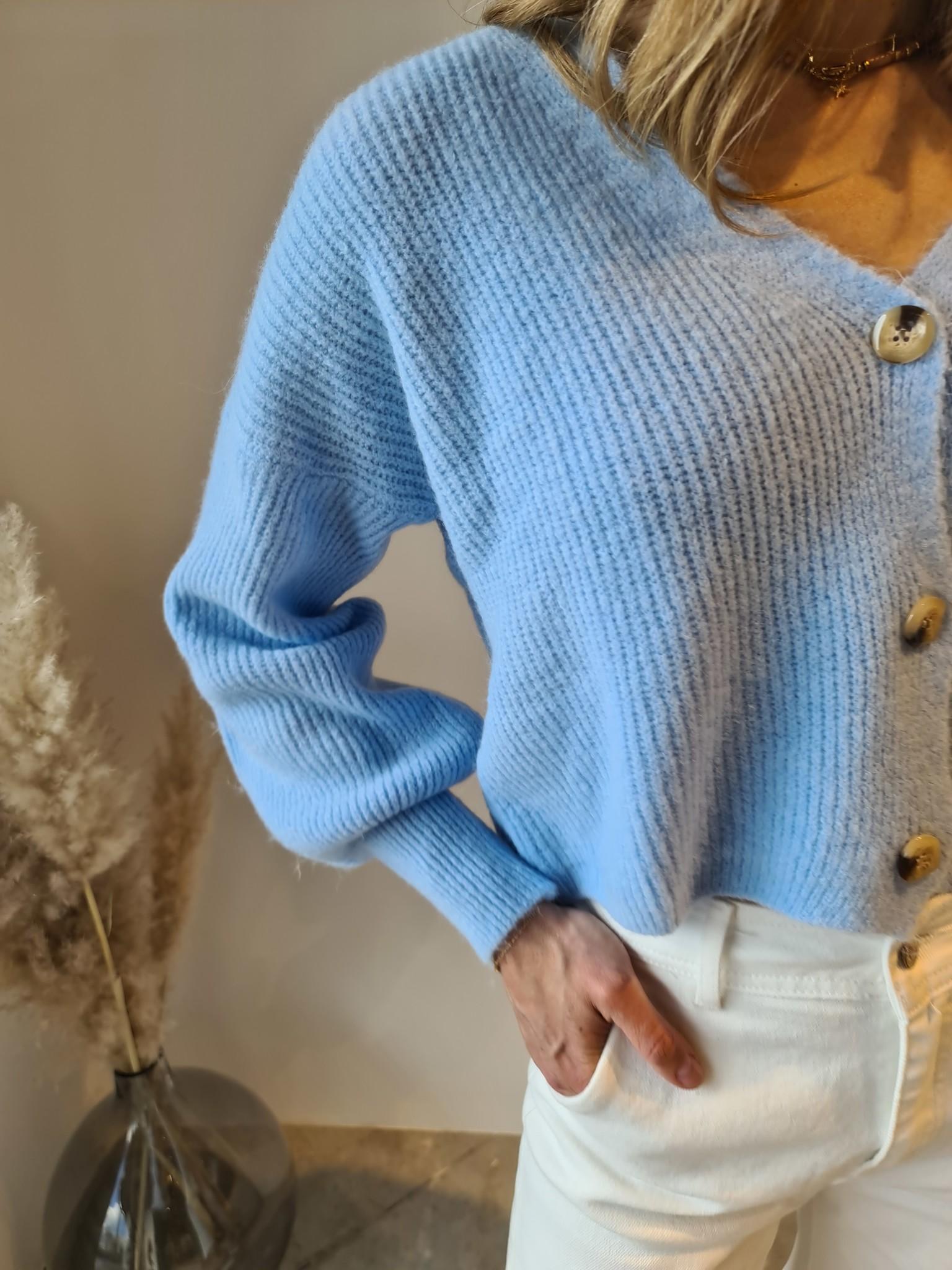 TRENDY gilet bleu ciel-5