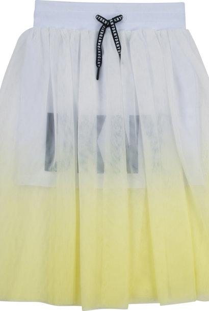 DKNY  jupe mesh et dip dye