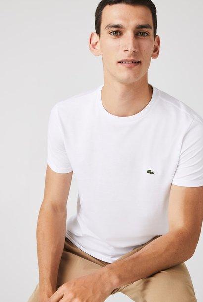 LACOSTE T-shirt col rond en jersey de coton pima uni