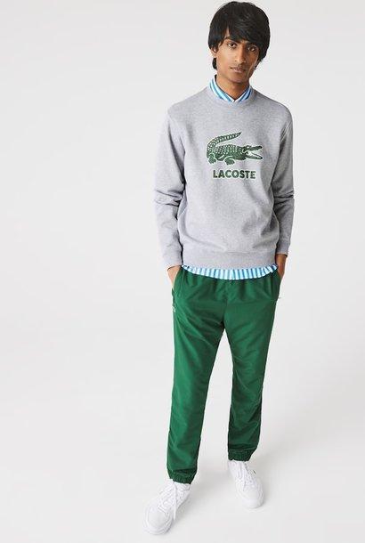 LACOSTE Sweatshirt à col rond en molleton avec logo craquelé imprimé
