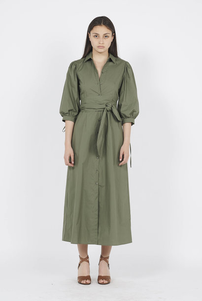 LIU JO Robe longue chemise en coton Vert