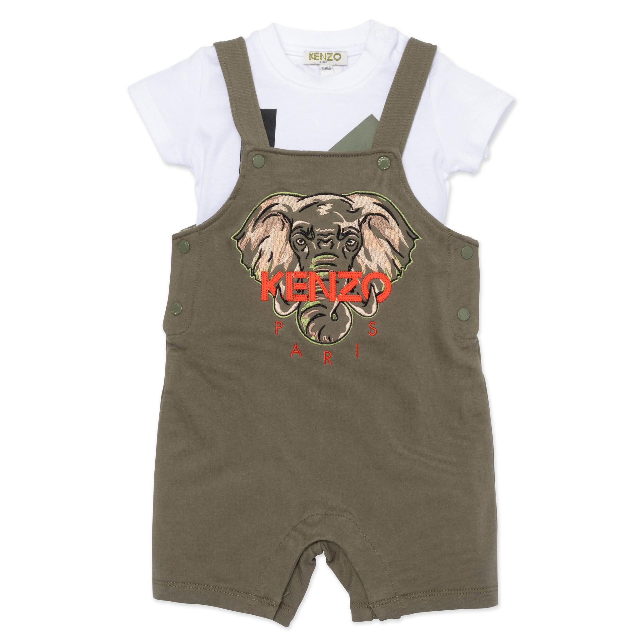 KENZO KIDS ensemble t shirt et salopette-2