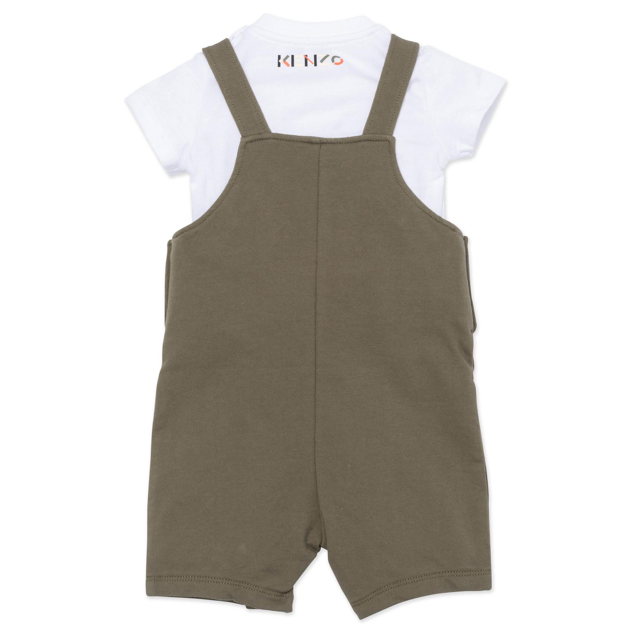 KENZO KIDS ensemble t shirt et salopette-3