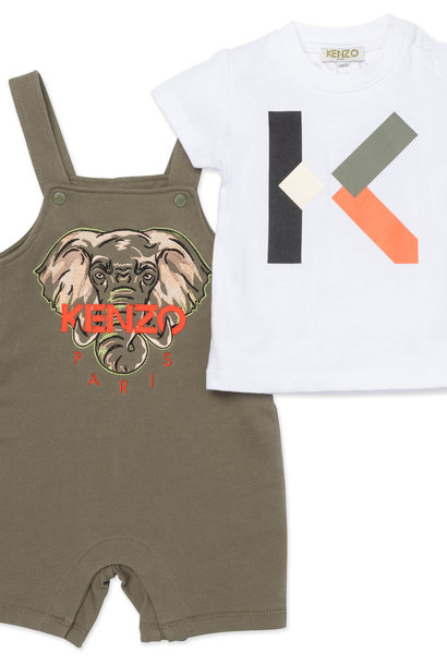 KENZO KIDS ensemble t shirt et salopette