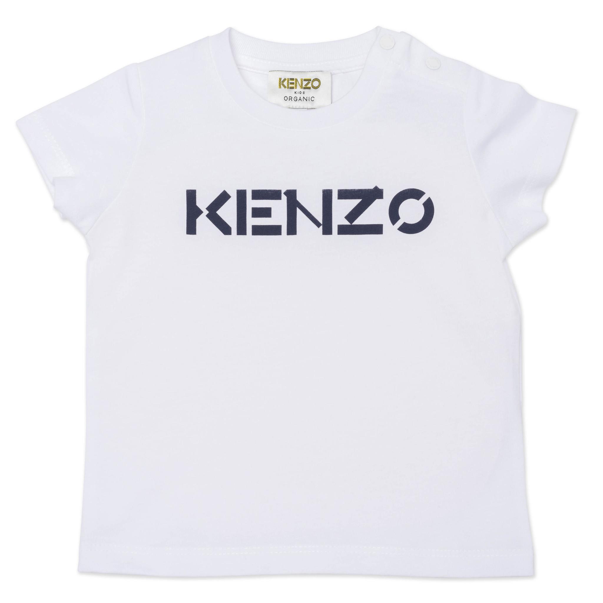KENZO KIDS  t shirt avec logo en coton bio-1