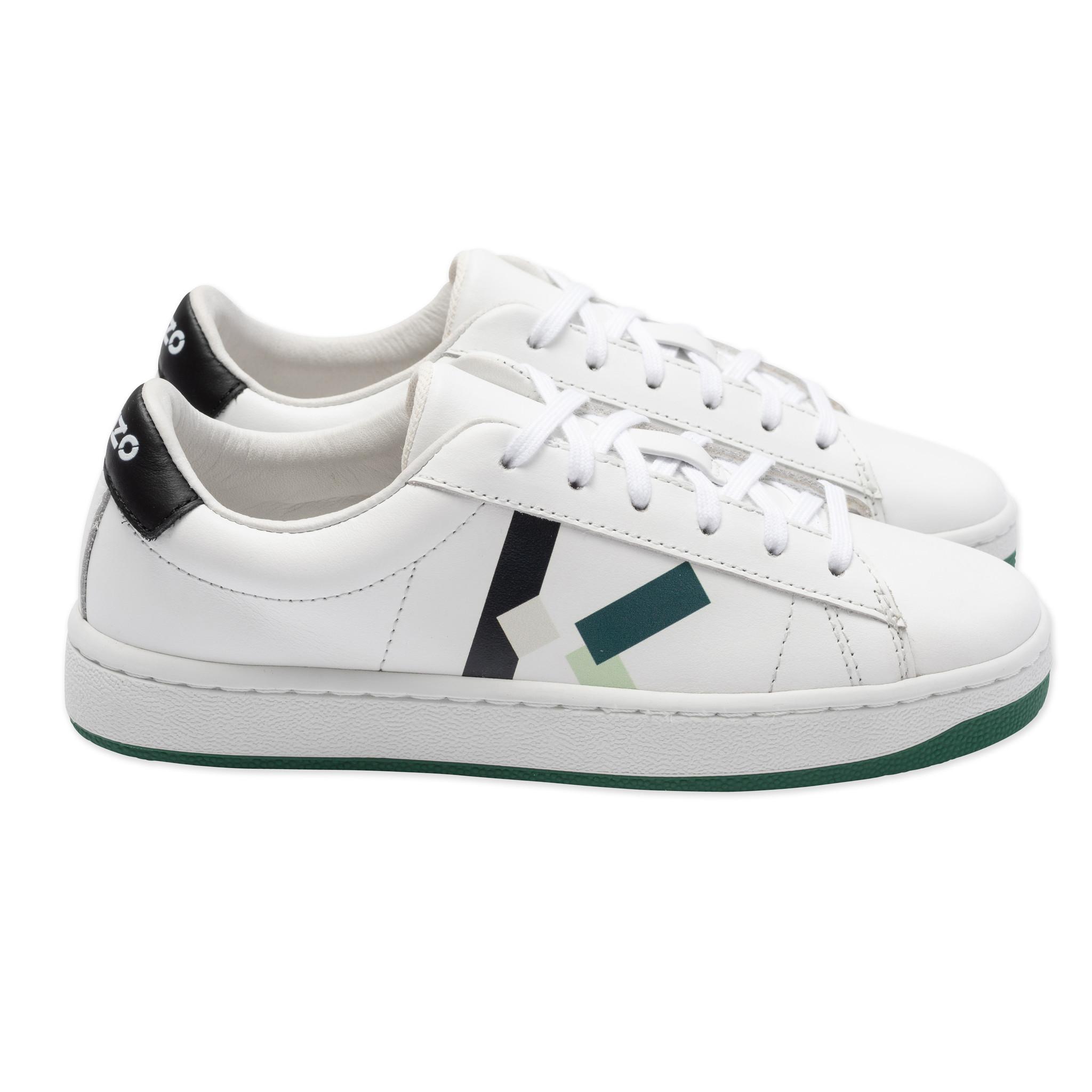 KENZO KIDS sneakers en cuir à lacets-1