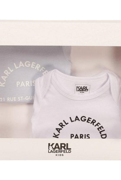 KARL LAGERFEELD KIDS lot de 2 bodies jersey