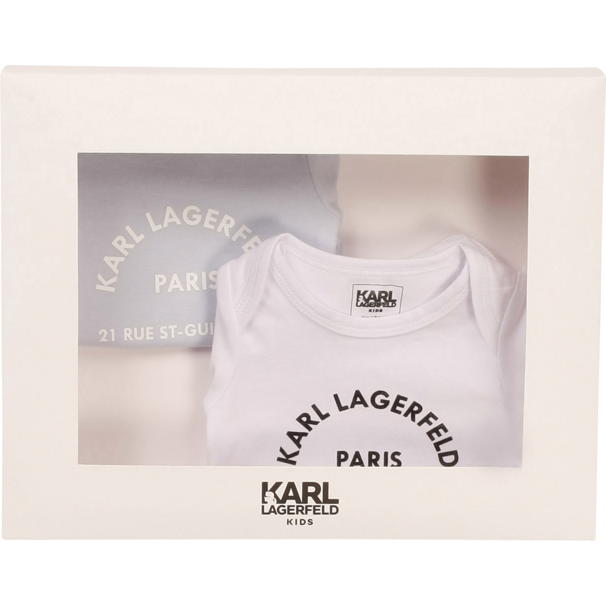 KARL LAGERFEELD KIDS lot de 2 bodies jersey-2