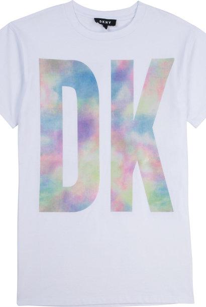DKNY robe à logo tie dye