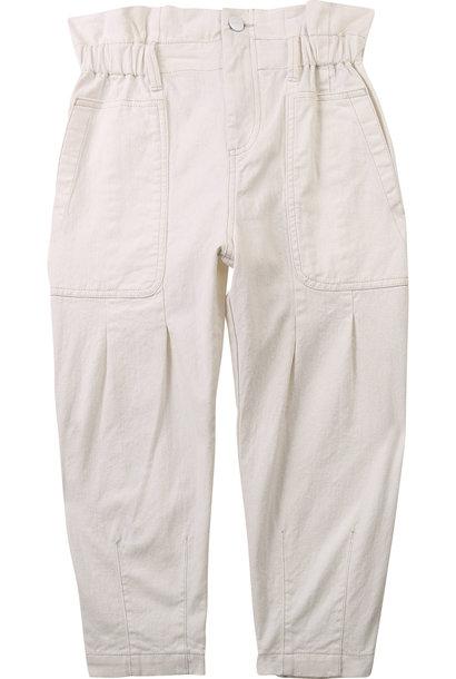 DKNY pantalon large en drill coton