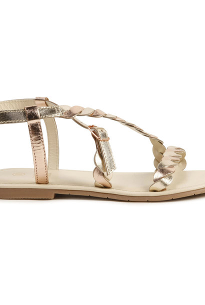 CARREMENT BEAU sandales tressées à boucle