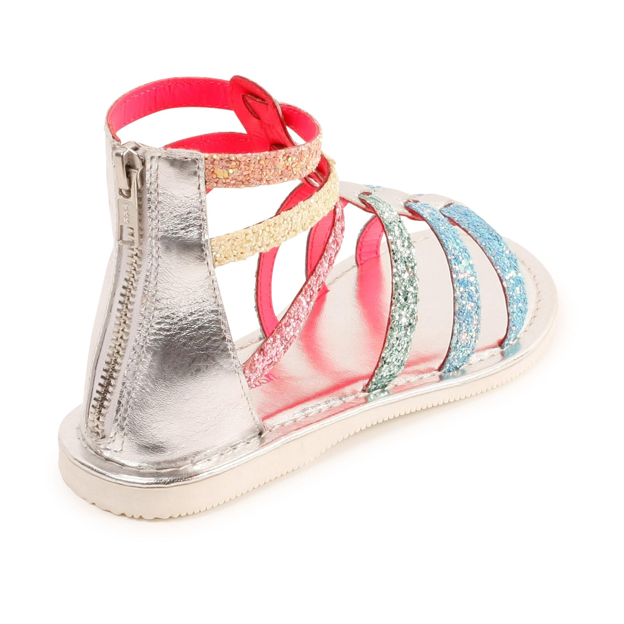 BILLIEBLUSH sandales en cuir à paillettes-2