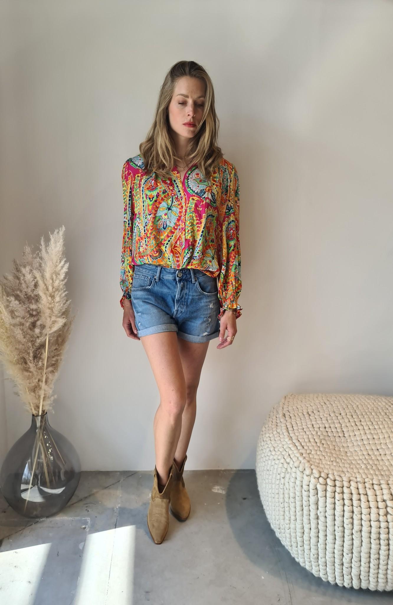 REPLAY short en jeans-1