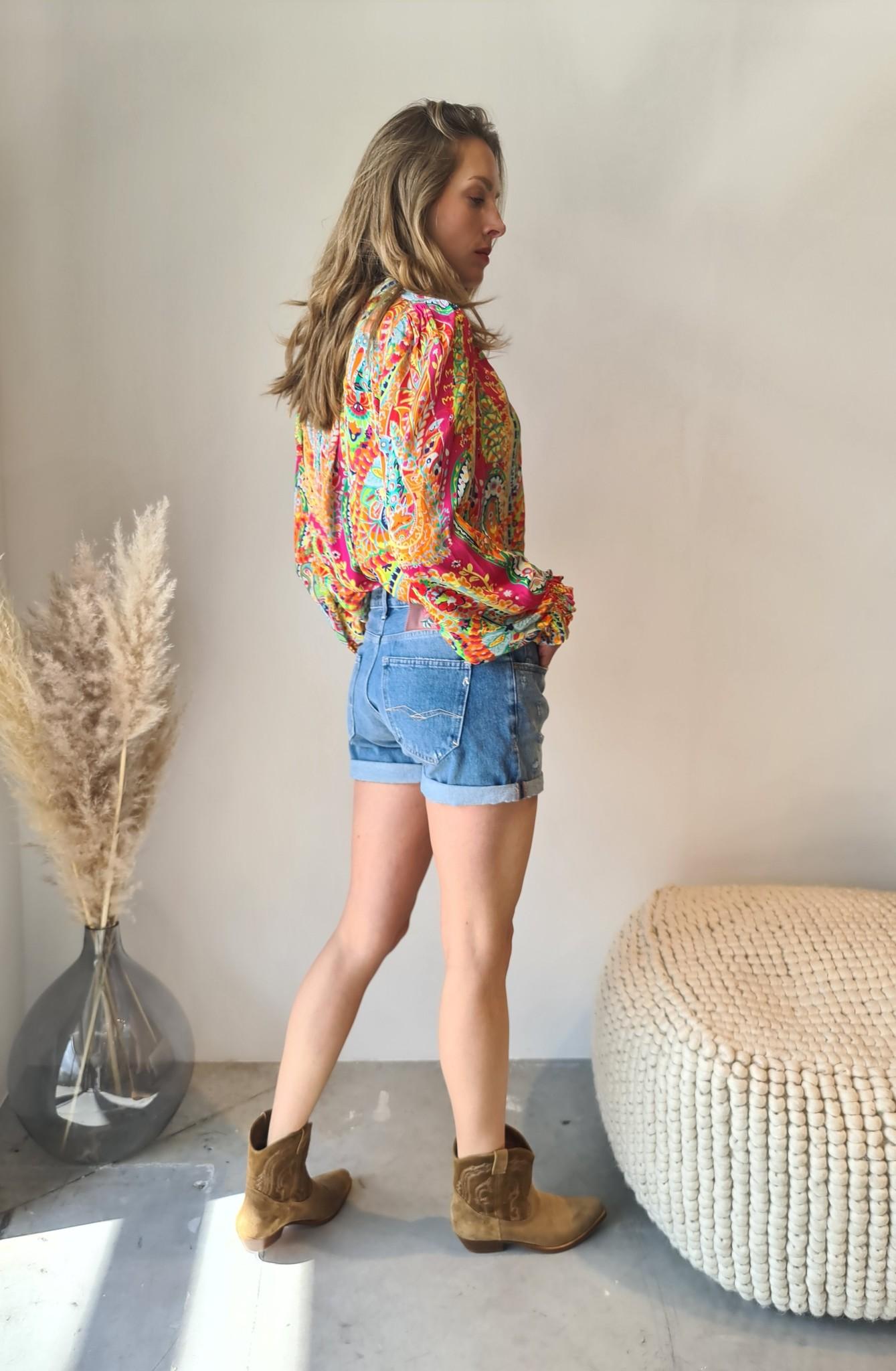 REPLAY short en jeans-3