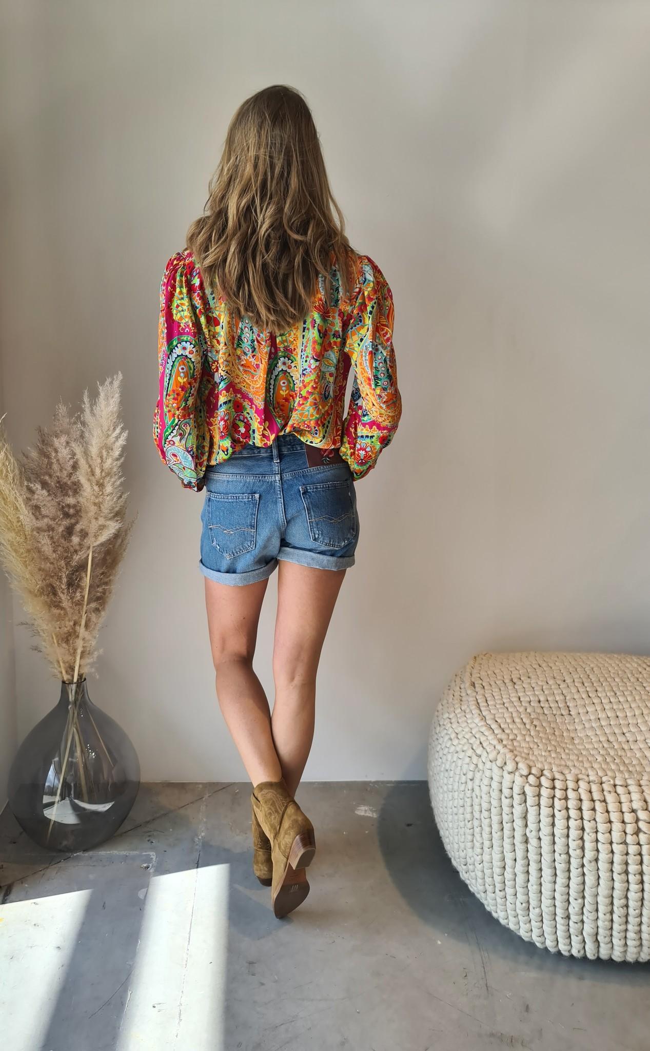 REPLAY short en jeans-4