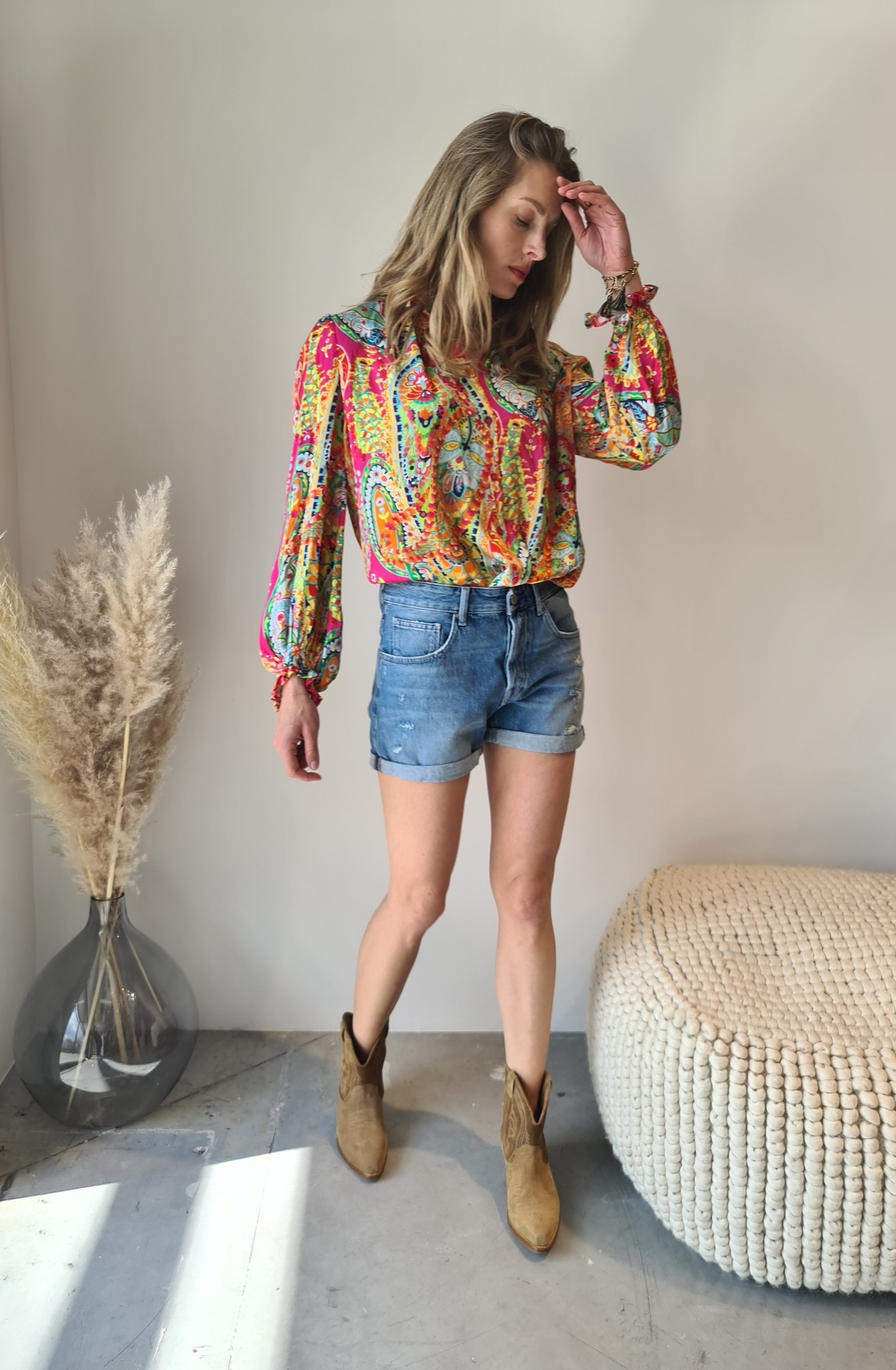 REPLAY short en jeans-6