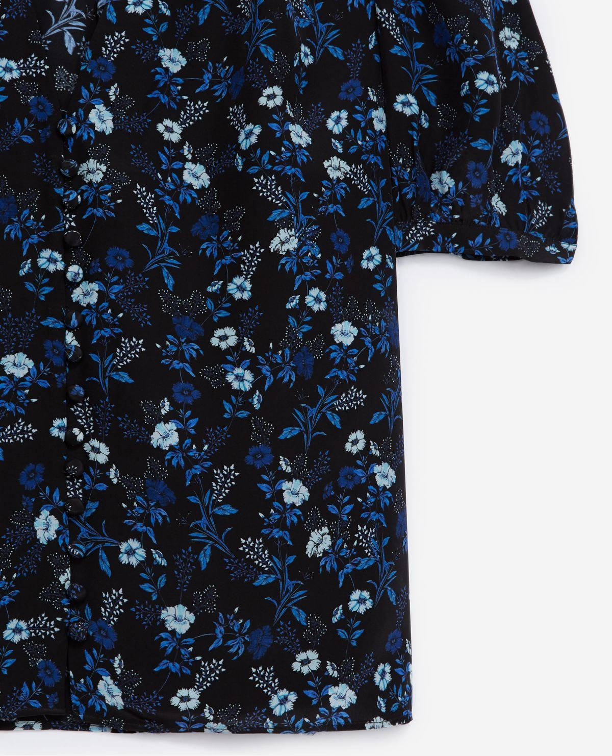 THE KOOPLES chemise bleue col v manches ballons-3