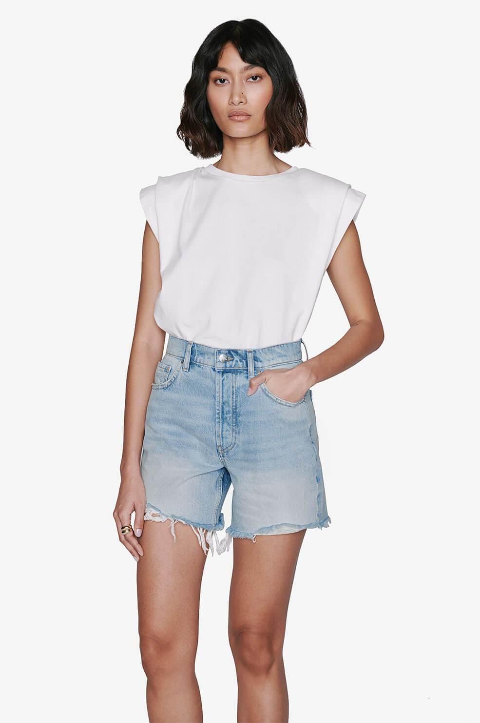 ANINE BING short court jeans-2