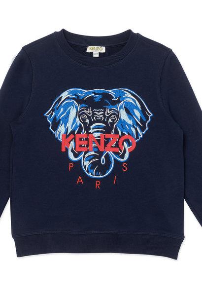 KENZO KIDS  sweatshirt avec éléphant brodé