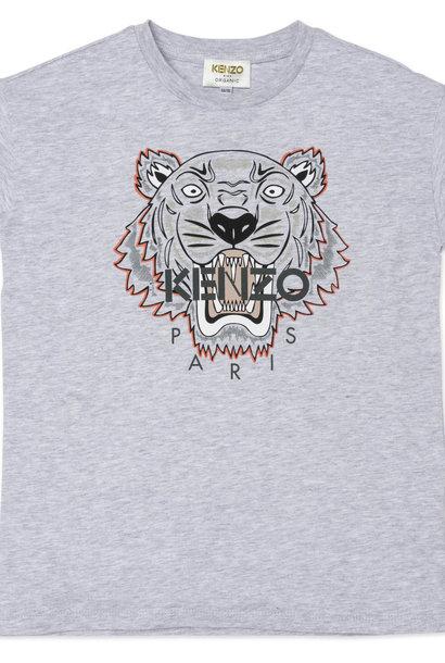 KENZO KIDS t-shirt à sérigraphie tigre en coton