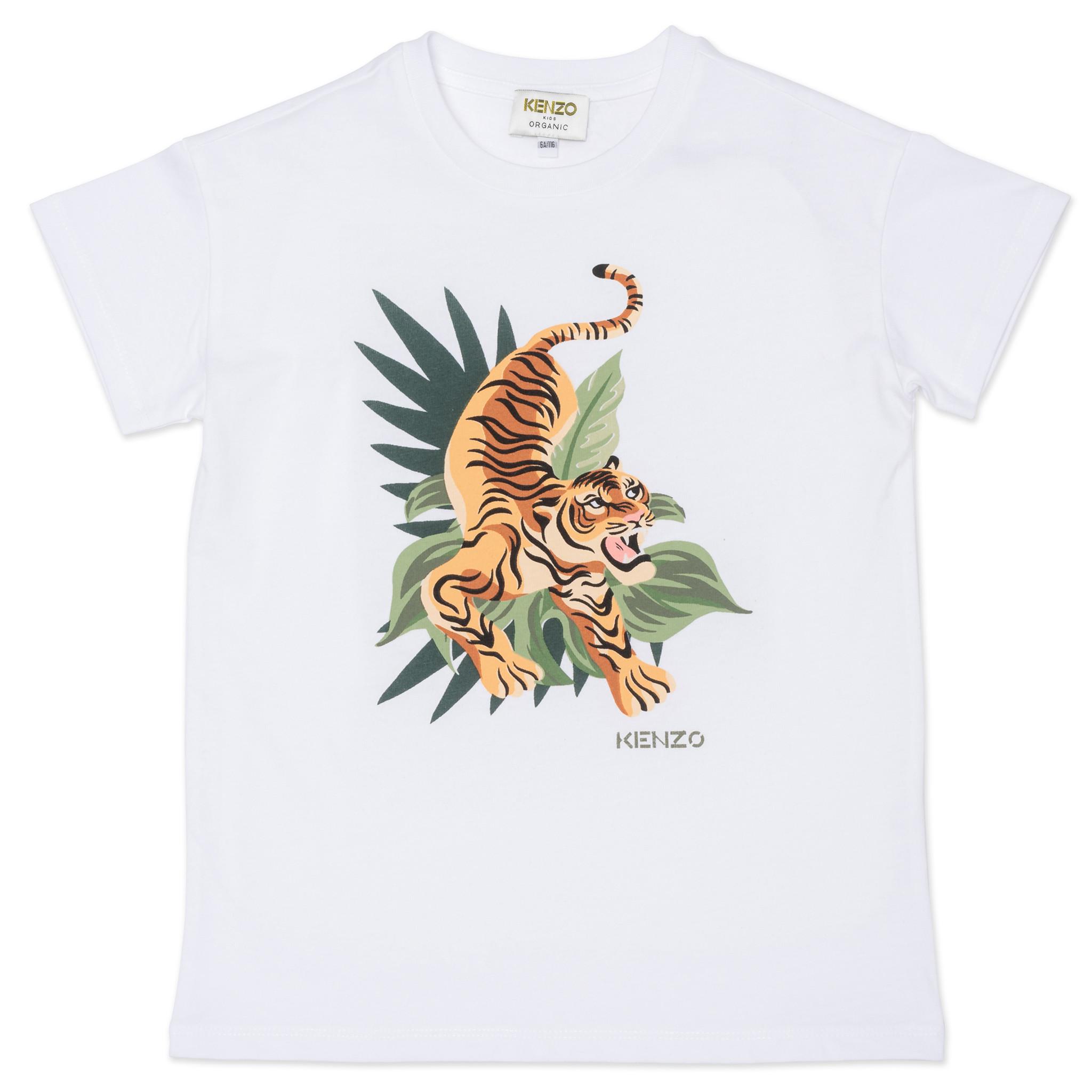 KENZO KIDS t-shirt avec tigre imprimé-1