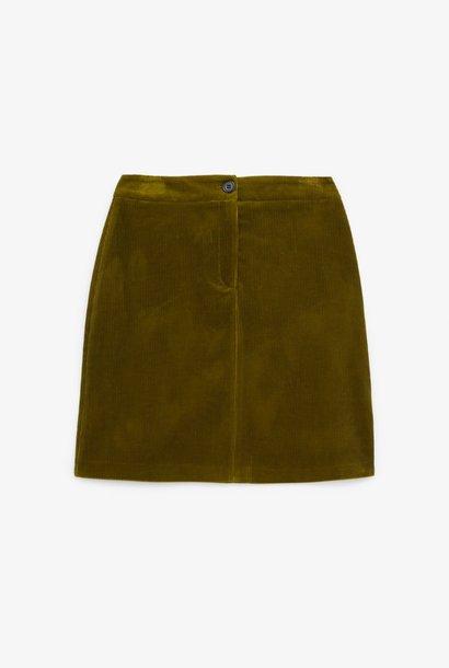 THE KOOPLES jupe courte velours côtelé bouton