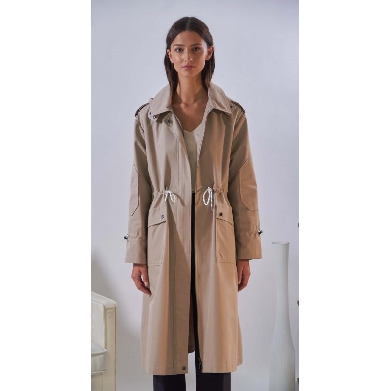 OAKWOOD manteau long déperlant a capuche-2