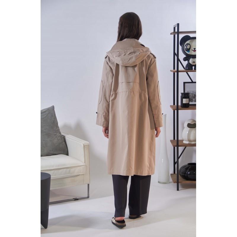OAKWOOD manteau long déperlant a capuche-3