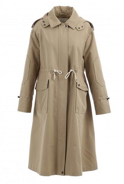 OAKWOOD manteau long déperlant a capuche