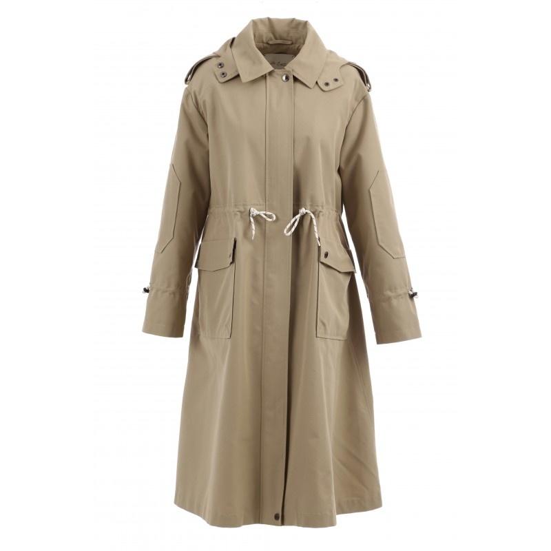 OAKWOOD manteau long déperlant a capuche-1