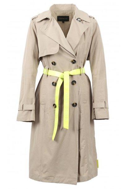OAKWOOD  manteau trench accessoires jaune
