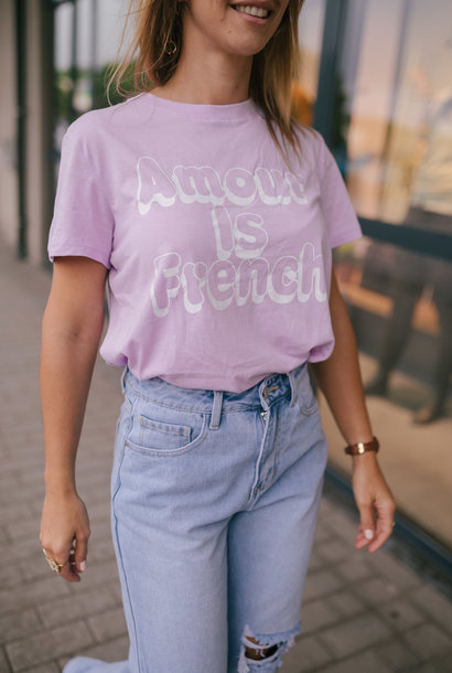AMOUR IS FRENCH t-shirt