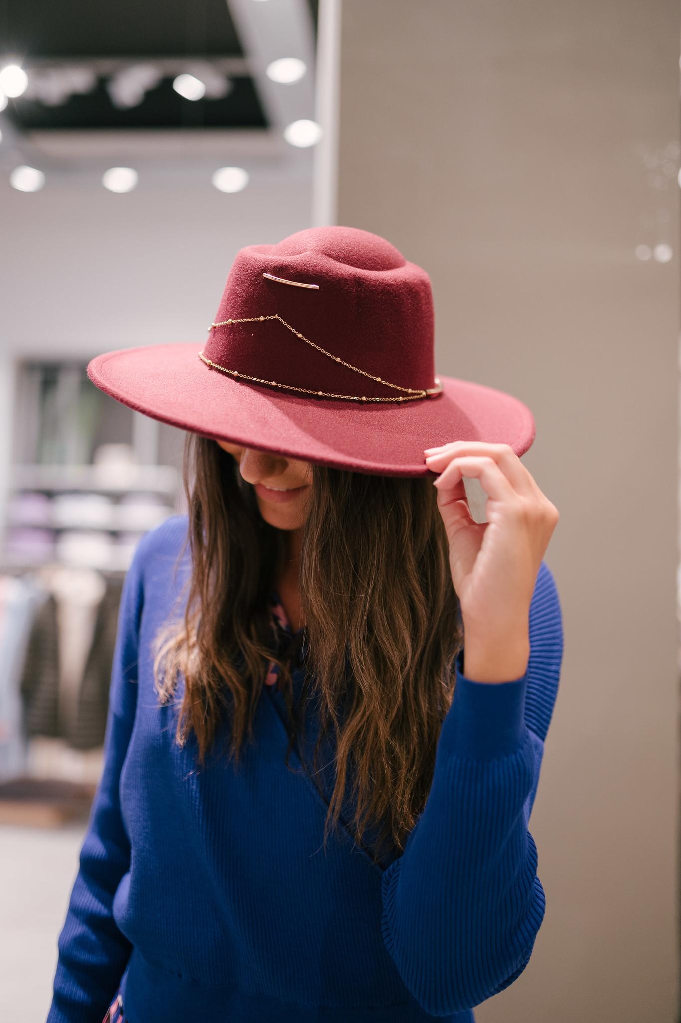 TOSCAN chapeau bordeaux-1