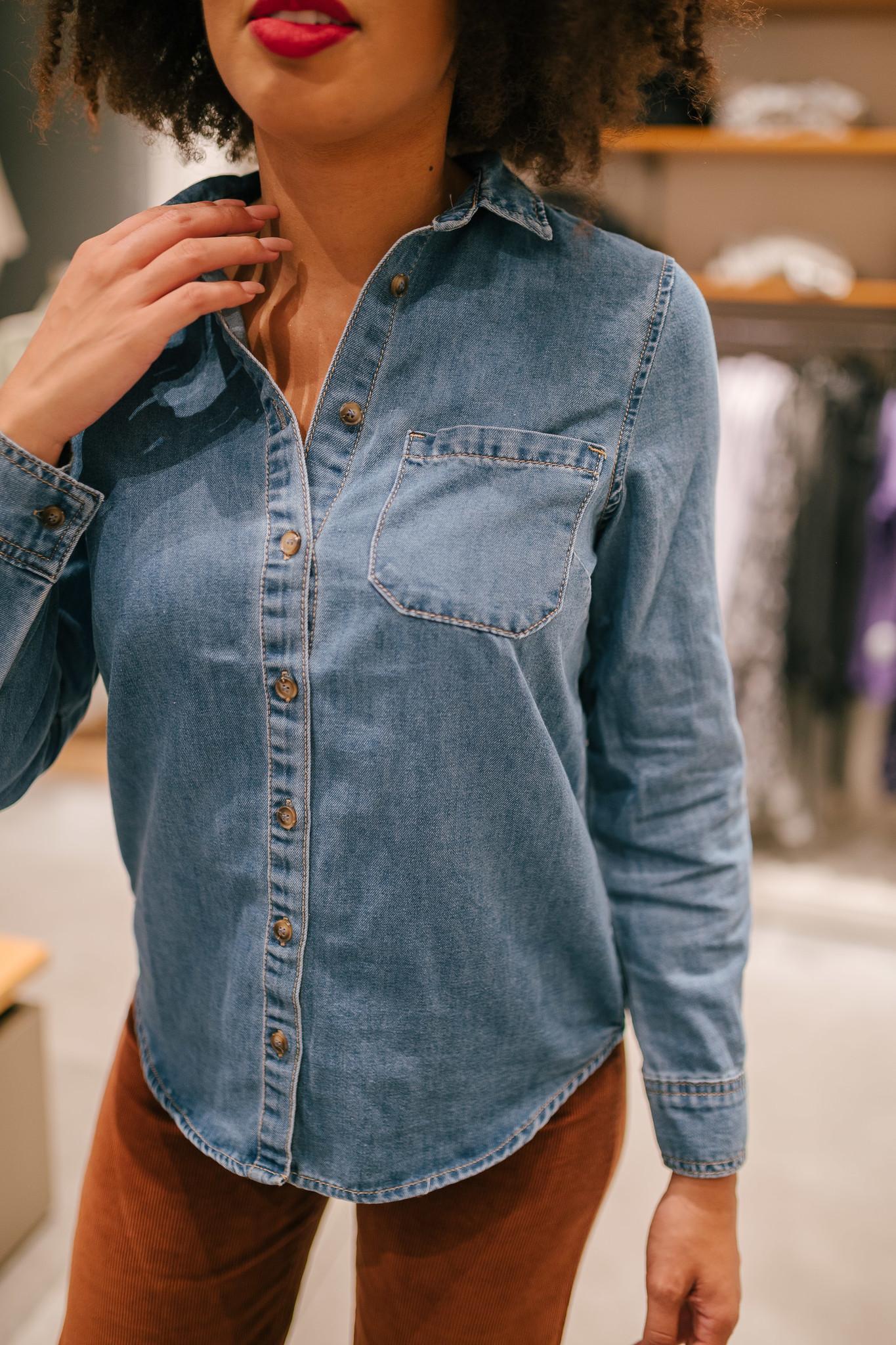 KRYS chemise en jeans-1