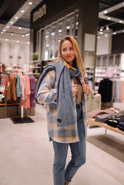 LEVY écharpe laine jeans