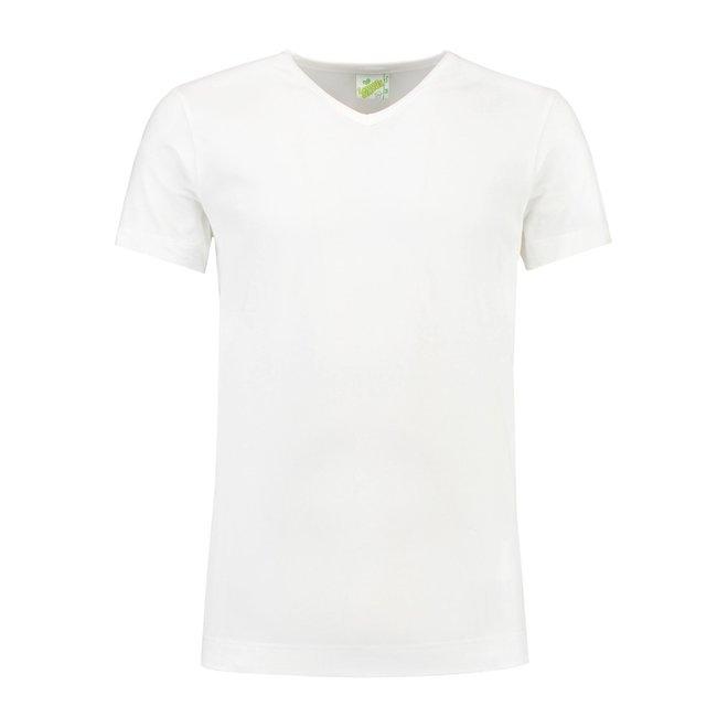 Extra lang T-shirt met V-hals L&S