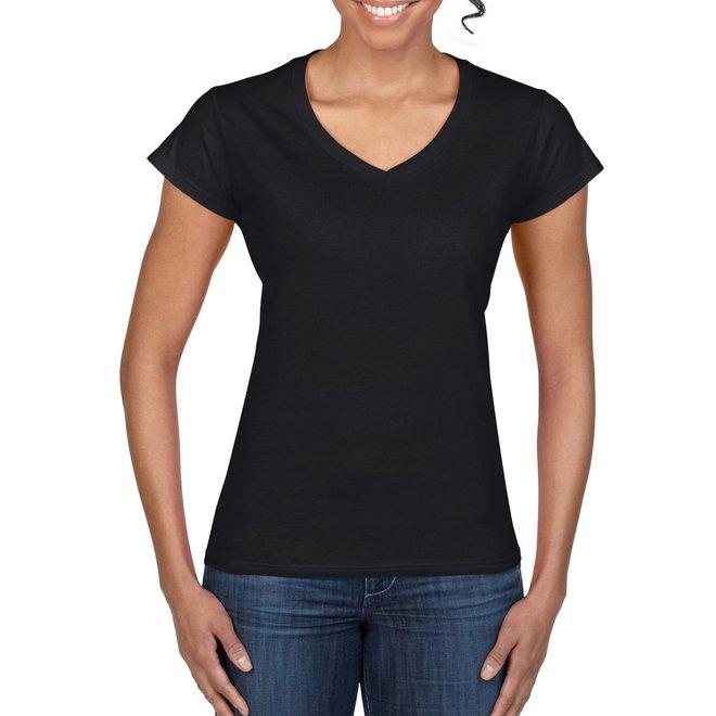 Gildan softstyle dames T-shirt v-hals